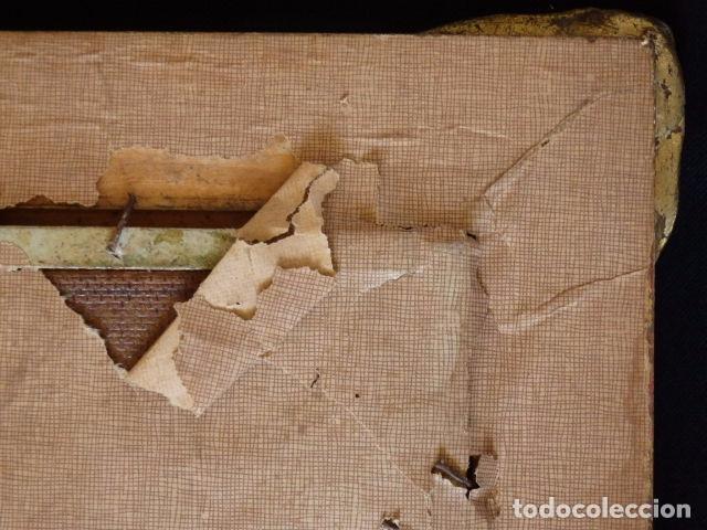 Arte: Virgen de la Leche. Obra original y firmada por M. Mora Yuste (Chiva 1932). Óleo sobre táblex. - Foto 6 - 84381596