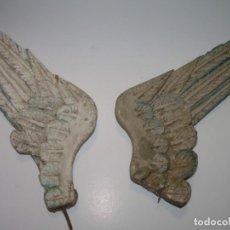 Arte: ANTIGUAS ALAS TALLADAS EN MADERA POLICROMADA PARA ANGEL O IMAGEN RELIGIOSA...SIGLO XVII . XVIII.. Lote 84407448