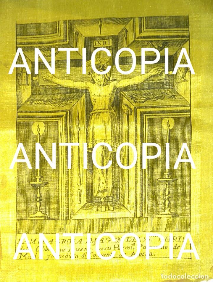 MILAGROSA IMAGEN DEL SANTISIMO CRISTO DE LA OLIVA MADRID SEDA S XVIII (Arte - Arte Religioso - Grabados)