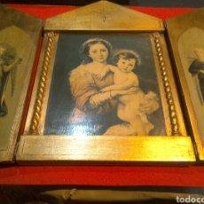 Arte: GRAN TRÍPTICO RELIGIOSO FINALES S.XIX. Lote 84708635