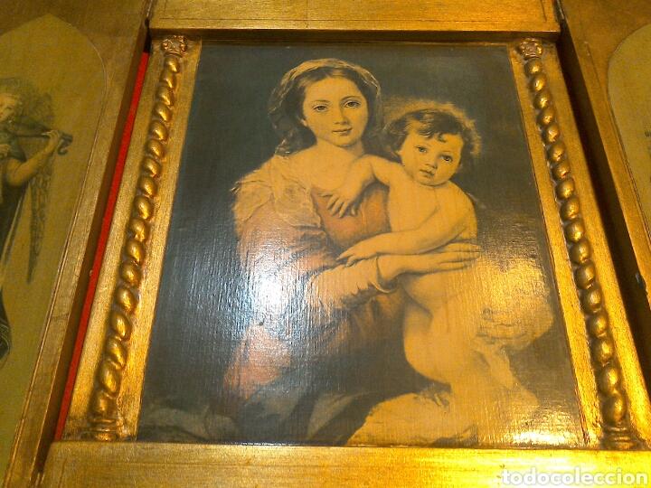 Arte: Gran tríptico religioso finales s.XIX - Foto 2 - 84708635