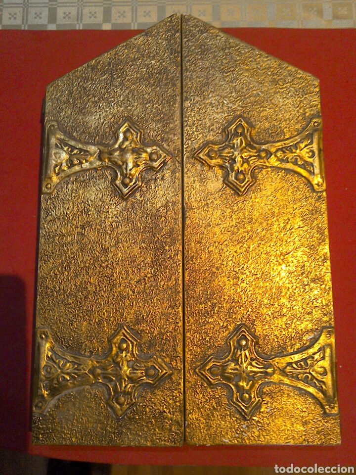Arte: Gran tríptico religioso finales s.XIX - Foto 6 - 84708635