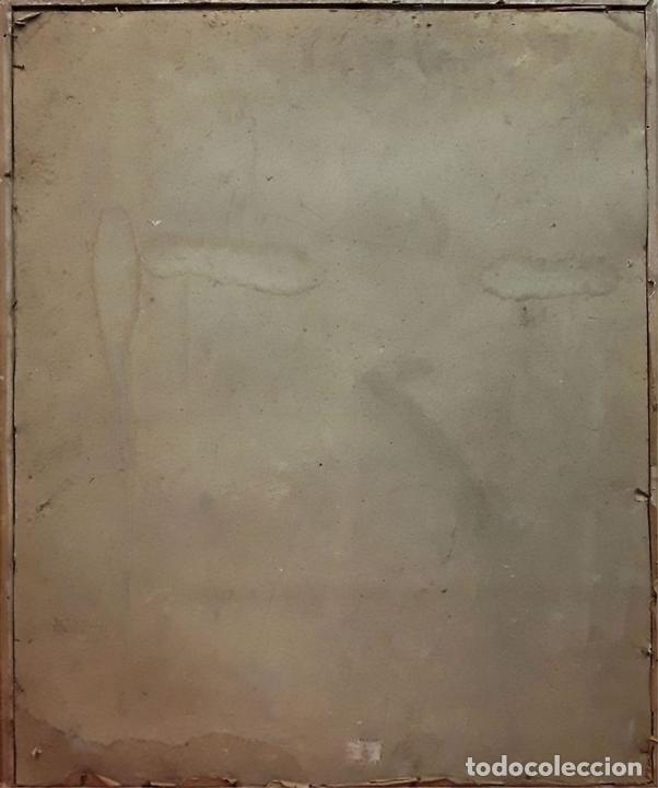 Arte: CORONACIÓN DE LA VIRGEN. GRABADO INSPIRADO EN UN VELÁZQUEZ. ESPAÑA. S. XIX. - Foto 8 - 171953162