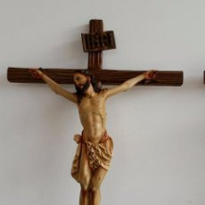 Arte: ESCULTURA EN MADERA CRISTO CRUCIFICADO . Lote 84730228