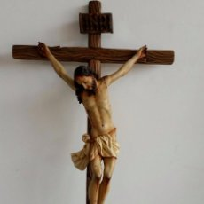 Arte: ESCULTURA CRISTO CRUCIFICADO DE MADERA . Lote 84730816