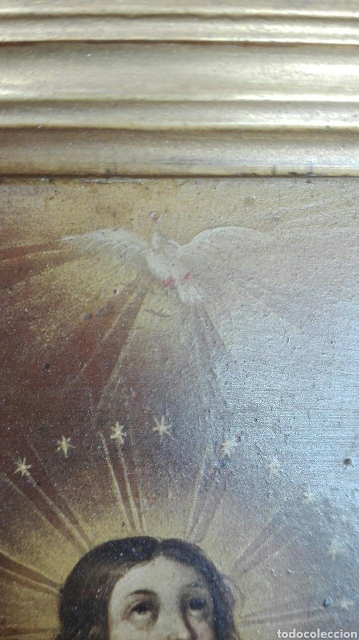Arte: Virgen Inmaculada siglo XVII - Oleo Sobre Plancha de Cobre - - Foto 21 - 84957896