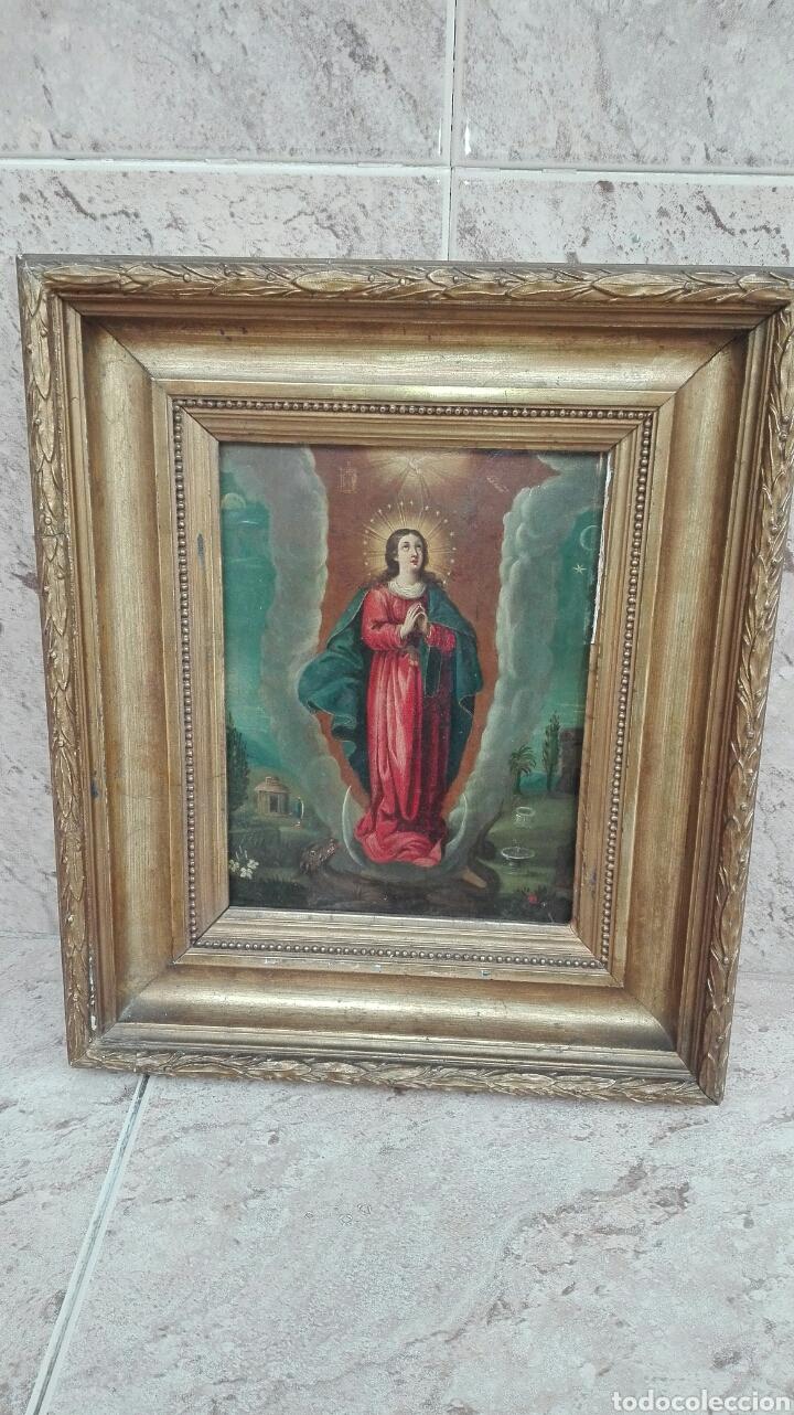 Arte: Virgen Inmaculada siglo XVII - Oleo Sobre Plancha de Cobre - - Foto 28 - 84957896