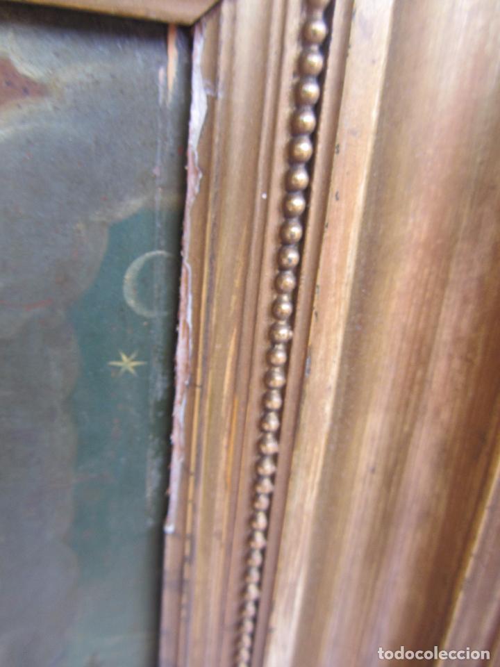 Arte: Virgen Inmaculada siglo XVII - Oleo Sobre Plancha de Cobre - - Foto 2 - 84957896