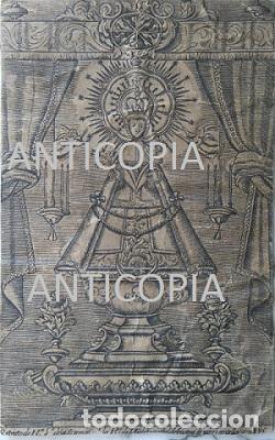 RETRATO DE NUESTRA SEÑORA DE LA SOTERRAÑA DE LA REAL DE NIEVA AÑO DE 1713 SEGOVIA (Arte - Arte Religioso - Grabados)