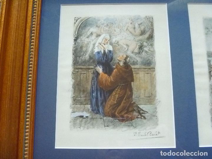 Arte: Grabado Erótico Monja Religión Becat Nun Nonne único Todocolección TENTATIONS EROTIC RELIGION ART - Foto 2 - 85233592