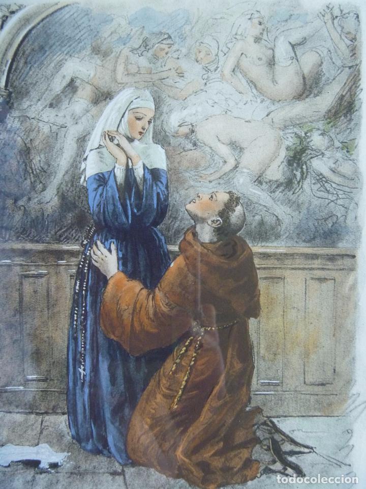 Arte: Grabado Erótico Monja Religión Becat Nun Nonne único Todocolección TENTATIONS EROTIC RELIGION ART - Foto 5 - 85233592