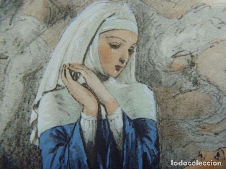 Arte: Grabado Erótico Monja Religión Becat Nun Nonne único Todocolección TENTATIONS EROTIC RELIGION ART - Foto 12 - 85233592