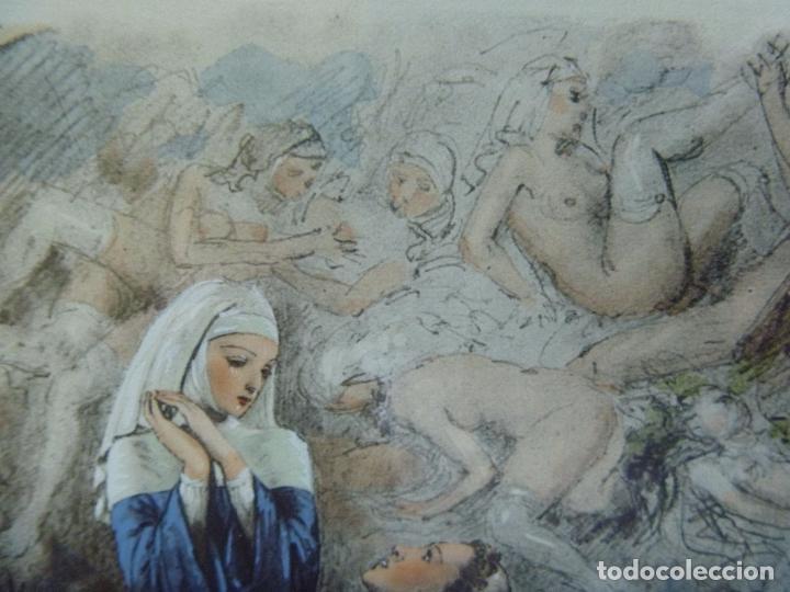 Arte: Grabado Erótico Monja Religión Becat Nun Nonne único Todocolección TENTATIONS EROTIC RELIGION ART - Foto 13 - 85233592