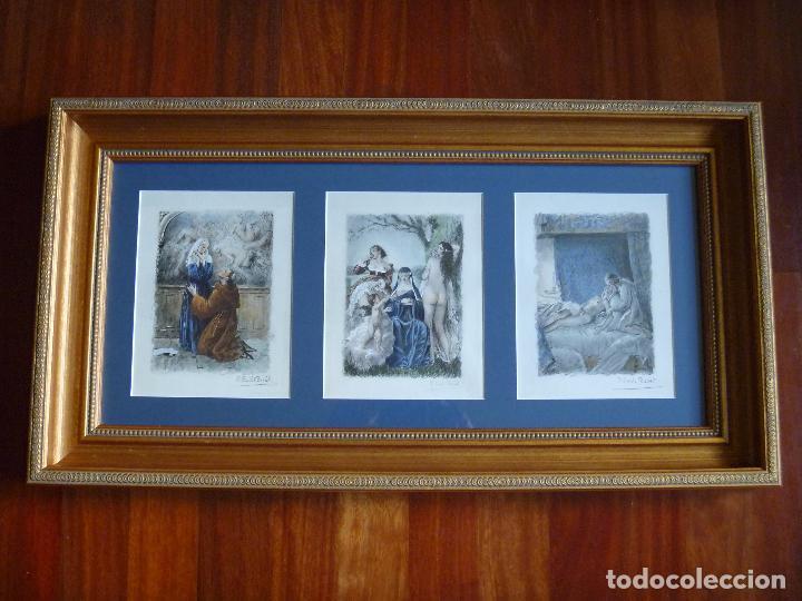 Arte: Grabado Erótico Monja Religión Becat Nun Nonne único Todocolección TENTATIONS EROTIC RELIGION ART - Foto 18 - 85233592
