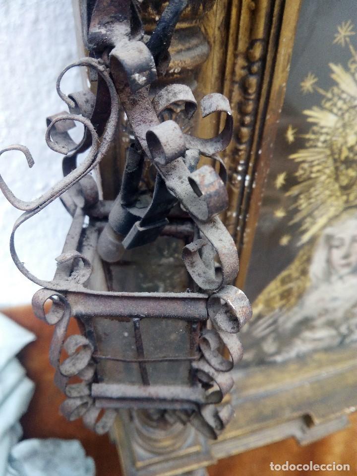 Arte: Retablo de virgen con forma de tejado de yeso y lucecitas - Foto 8 - 85452088