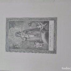 Arte: LITOGRAFIA GRABADO DE NUESTRA SEÑORA DE LA SALUD DE ELDA. Lote 85609612