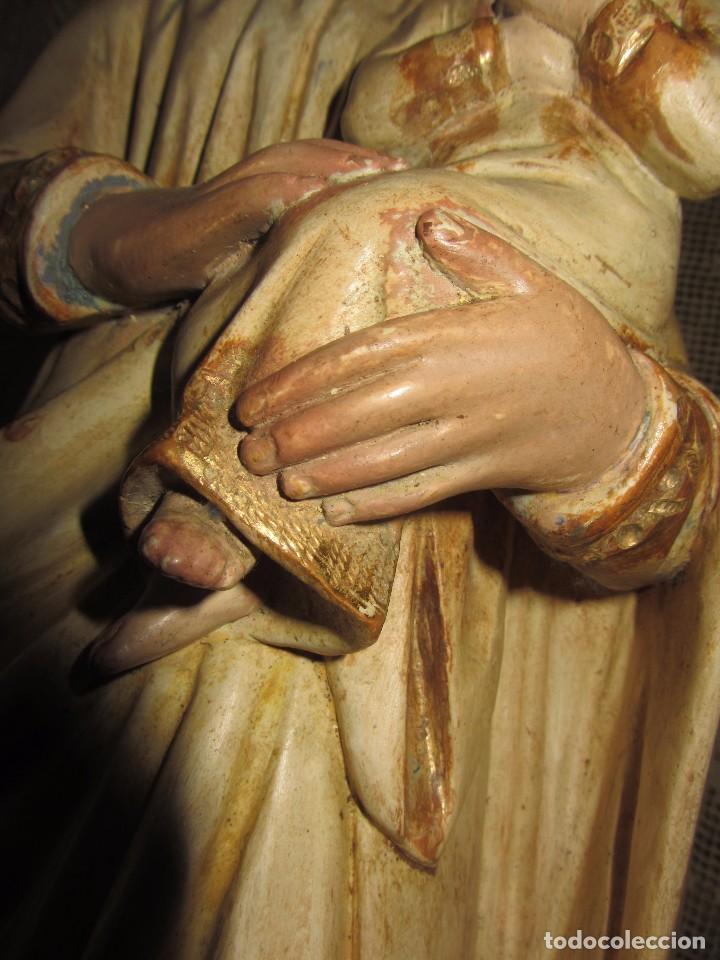 Arte: Escultura San José con el Niño - Madera Policromada XIX - - Foto 11 - 85652564