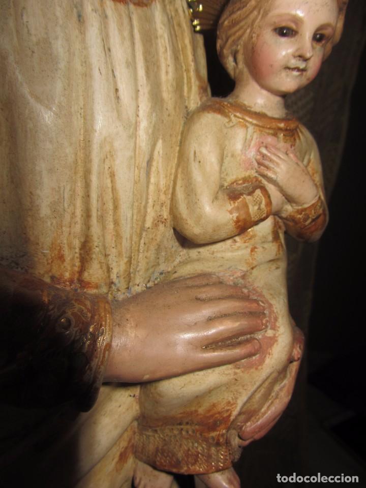 Arte: Escultura San José con el Niño - Madera Policromada XIX - - Foto 12 - 85652564