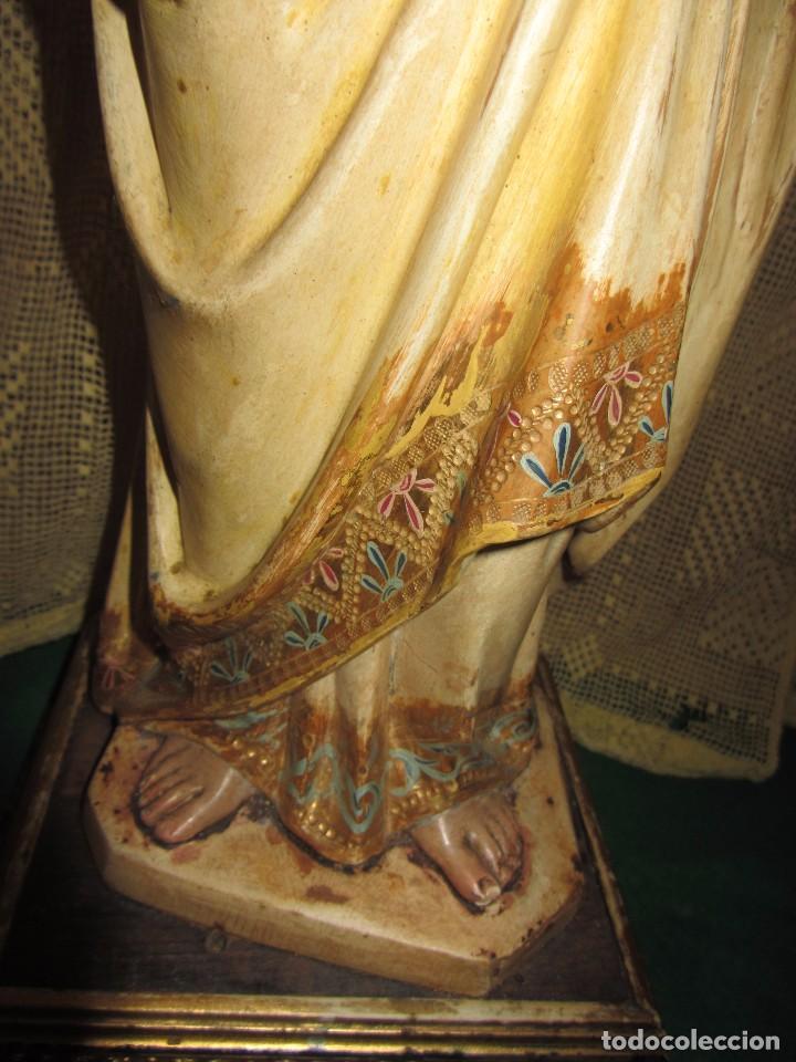 Arte: Escultura San José con el Niño - Madera Policromada XIX - - Foto 15 - 85652564