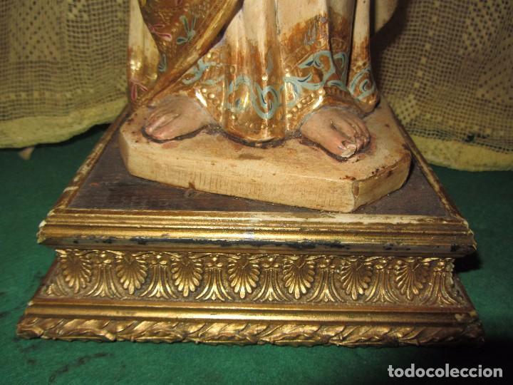 Arte: Escultura San José con el Niño - Madera Policromada XIX - - Foto 16 - 85652564