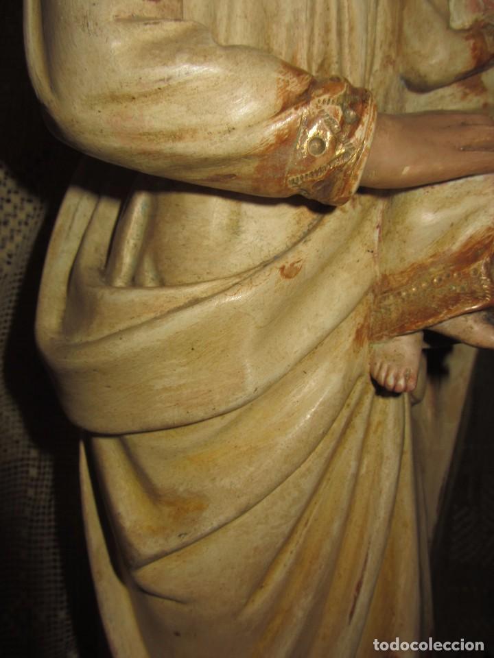 Arte: Escultura San José con el Niño - Madera Policromada XIX - - Foto 17 - 85652564