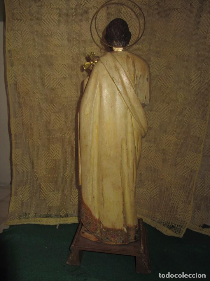 Arte: Escultura San José con el Niño - Madera Policromada XIX - - Foto 20 - 85652564