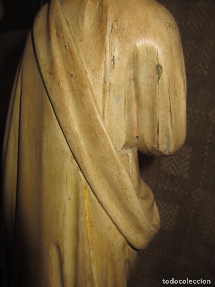 Arte: Escultura San José con el Niño - Madera Policromada XIX - - Foto 26 - 85652564