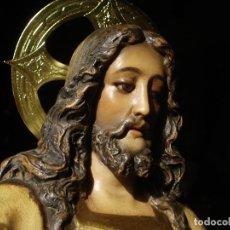 Arte: SAGRADO CORAZON PASTA MADERA ESCUELA OLOT. Lote 85702036