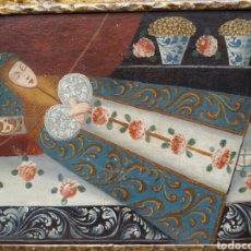 Arte: CUADRO DE LA VIRGEN DEL TRANSITO ÓLEO SOBRE LIENZO SIGLO XVII ESCUELA CUZQUEÑA. Lote 85715491