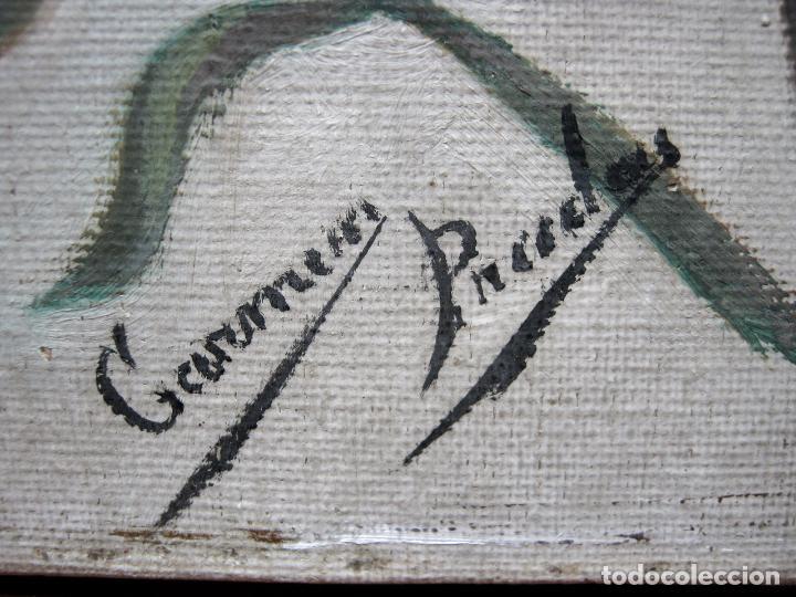 Arte: 48 cm - Antigua pintura oleo sobre lienzo : SAN JOSE CON EL NIÑO JESUS - firmado - Foto 6 - 85932496