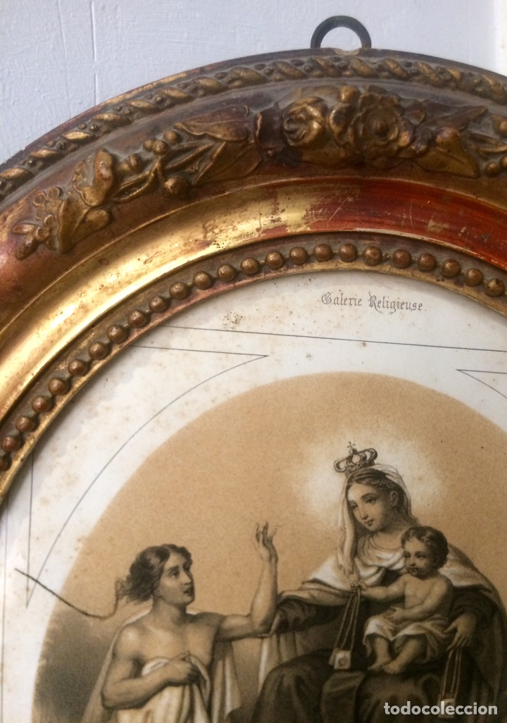 Arte: Grabado de finales del Siglo XIX, Virgen del Carmen. - Foto 4 - 85991143