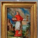 Arte: CRISTAL PINTADO SAN RAMÓN NONATO ESCUELA ESPAÑOLA SIGLO XVIII. Lote 86092312