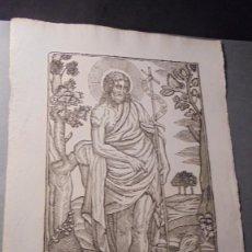 Arte: ANTIGUO GRABADO - SAN JUAN BAUTISTA , S.XIX MANRESA . POR PAU ROCA , 32X22 CM. . Lote 86192916