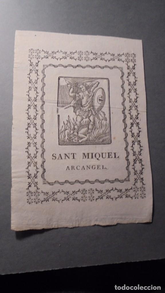 ANTIGUO GRABADO S. XVIII - SANT MIQUEL ARCANGEL - 22X15 CM. (Arte - Arte Religioso - Grabados)
