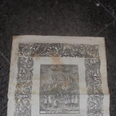 Arte: ANTIGUO GRABADO S.XVIII- XIX NTRA. SRA. DE MONTSERRAT - P. ROCA 44X31,5 CM. SEÑALES DE USO . Lote 86223708