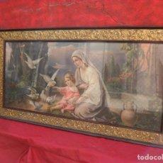 Arte: 2 CUADROS RELIGIOSOS ANTIGUOS,ENORME 140X70 CM MAYOR,MUCHAS FOTOS. Lote 86228132