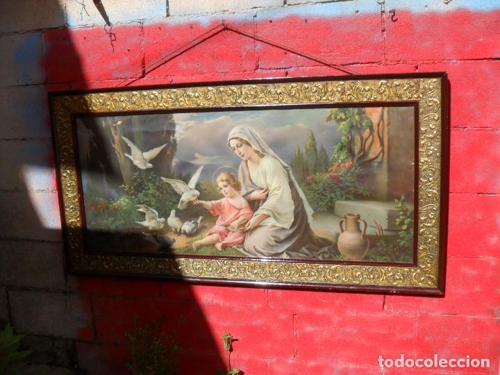Arte: 2 cuadros religiosos antiguos,enorme 140x70 cm mayor,muchas fotos - Foto 2 - 86228132