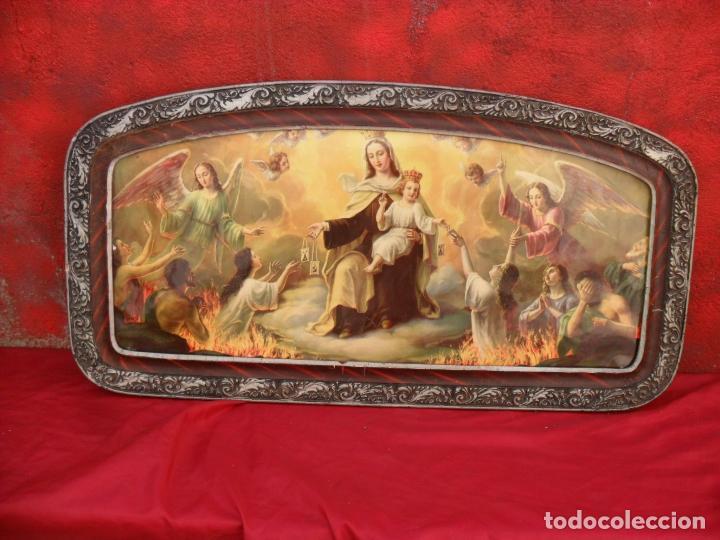Arte: 2 cuadros religiosos antiguos,enorme 140x70 cm mayor,muchas fotos - Foto 5 - 86228132