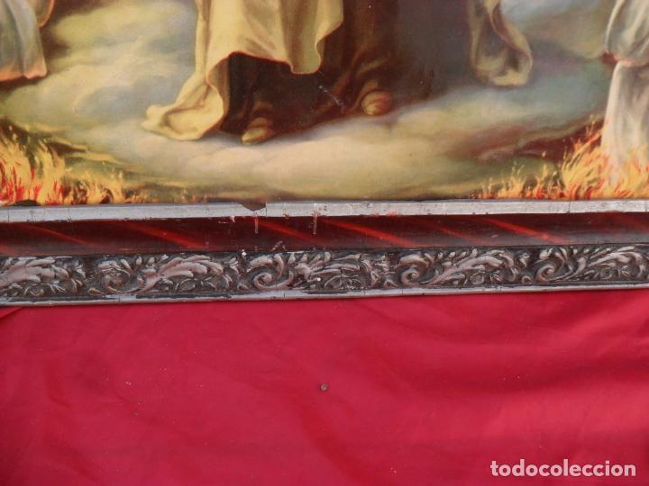 Arte: 2 cuadros religiosos antiguos,enorme 140x70 cm mayor,muchas fotos - Foto 7 - 86228132