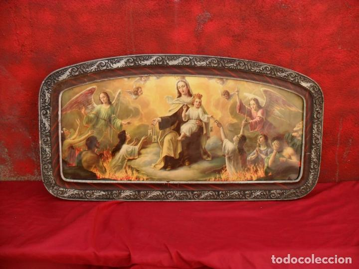 Arte: 2 cuadros religiosos antiguos,enorme 140x70 cm mayor,muchas fotos - Foto 8 - 86228132