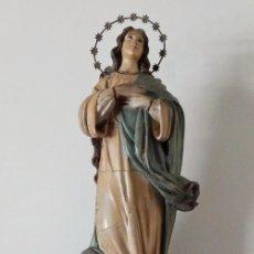 Arte: IMAGEN DE LA INMACULADA CONCEPCIÓN DE MARÍA. CON MÉNSULA DE IGLESIA.. Lote 86228872