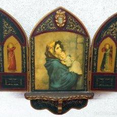Arte: ANTIGUO TRIPTICO DE LA MADONNINA, DE R. FERRUZZI. Lote 86240264