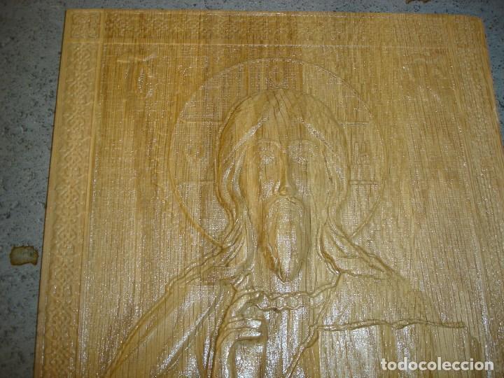 Arte: icono realizado en madera desconocozco la variedad de madera que es - Foto 2 - 89797774