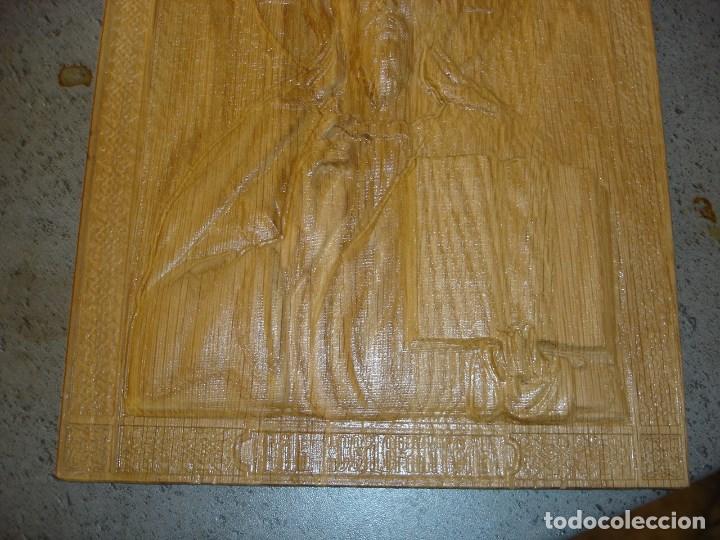 Arte: icono realizado en madera desconocozco la variedad de madera que es - Foto 3 - 89797774