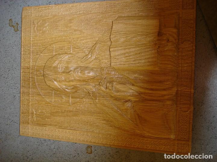 Arte: icono realizado en madera desconocozco la variedad de madera que es - Foto 4 - 89797774