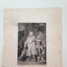 Arte: ANTIGUO GRABADO ORIGINAL DE JACQUES BENIGNE BOSSUET, CLÉRIGO E INTELECTUAL FRANCES. Lote 86335936