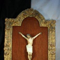 Arte: CRISTO CRUCIFICADO POPULAR S.XVIII. POLICROMADO.. Lote 86361624