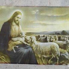 Arte: LAMINA RELIGIOSA. JESUS Y SU REBAÑO. ENVIO INCLUIDO EN EL PRECIO.. Lote 86382392