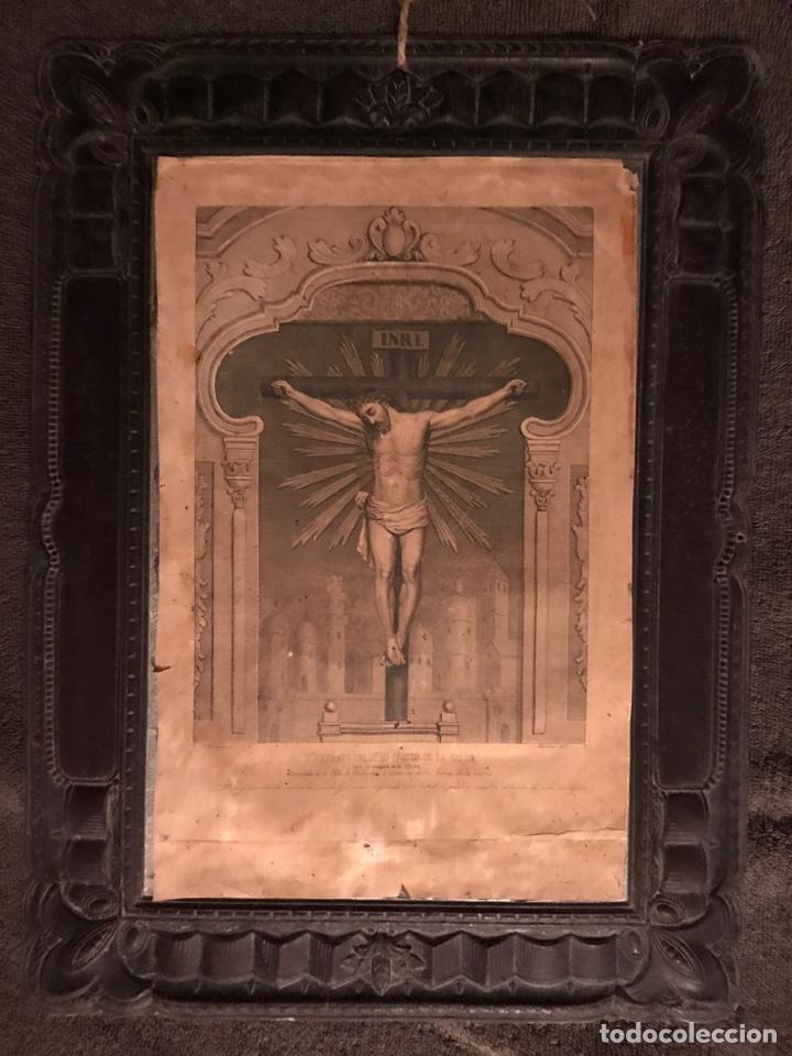 CHILOECHES (GUADALAJARA). GRABADO ANTIGUO. (FINALES DEL SIGLO XIX?) (Arte - Arte Religioso - Grabados)