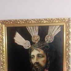 Arte: ÓLEO JESUCRISTO MEDIDAS 46 X 55. Lote 86407156